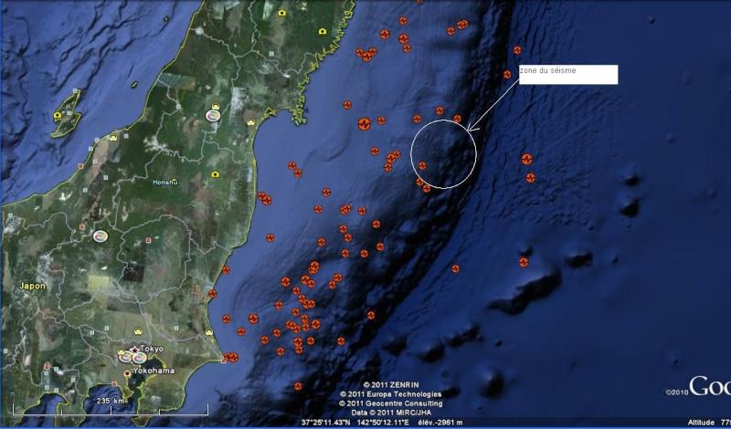 Très violent séisme suivi d'un tsunami au japon