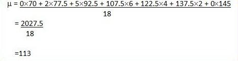 Calcul de la moyenne