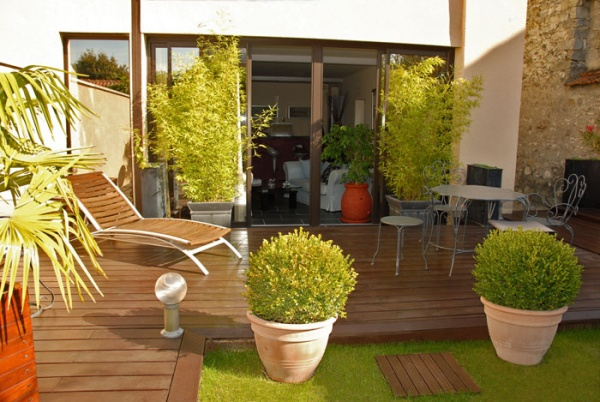 Photos de terrasse balcon design for Idee plante terrasse