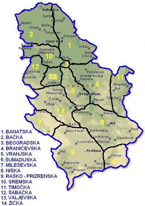 Green Corps Celebrity Mapa Srbije