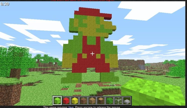 Dessin Minecraft Personnage