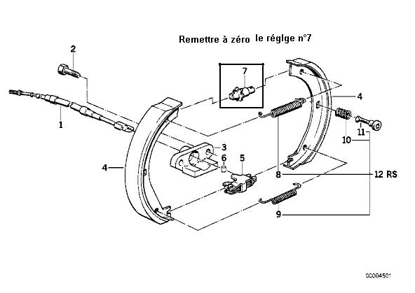 bmw e36 325i an 1993 comment changer systeme de cables de frein a main. Black Bedroom Furniture Sets. Home Design Ideas