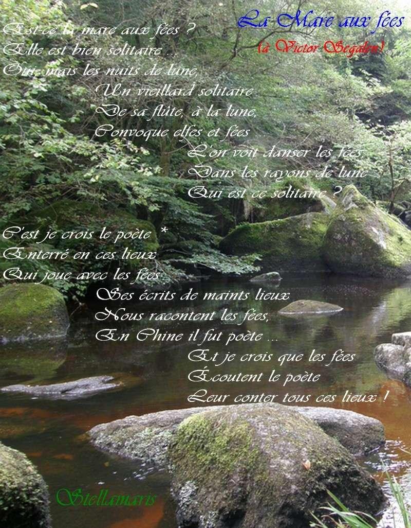 Exceptionnel La mare aux fées (à Victor Segalen) - Stellamaris. Poèmes et  GF18