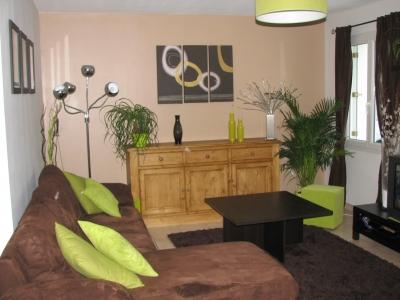 Peinture salon - Deco salon blanc et marron ...