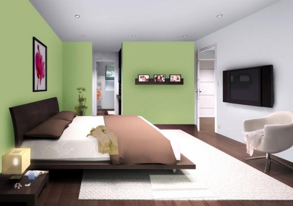 Peinture chambre - Peinture verte chambre ...