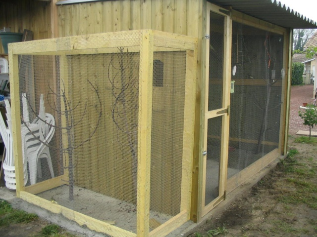 construire une voliere exterieur en bois