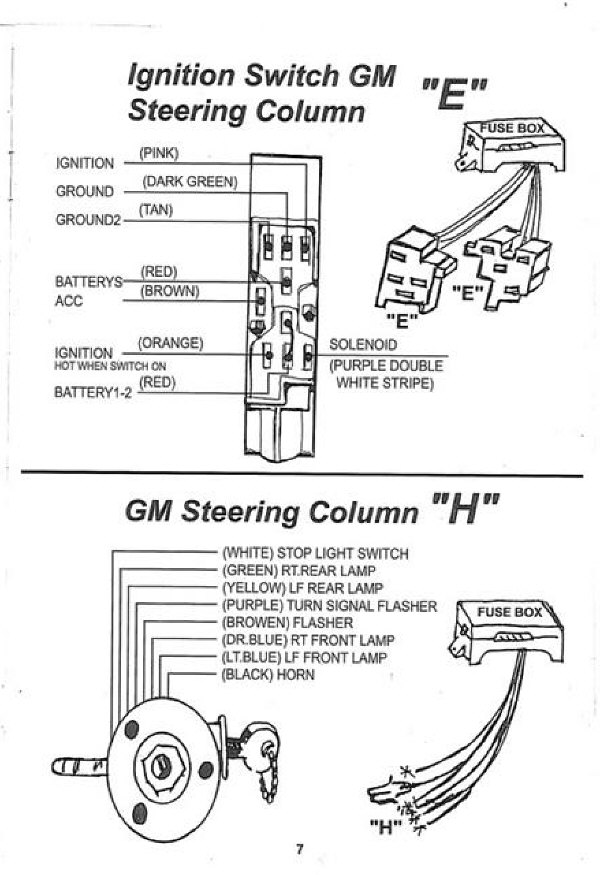 gm_col10 chevy steering column wiring diagram chevrolet wiring diagrams Basic Electrical Wiring Diagrams at gsmx.co
