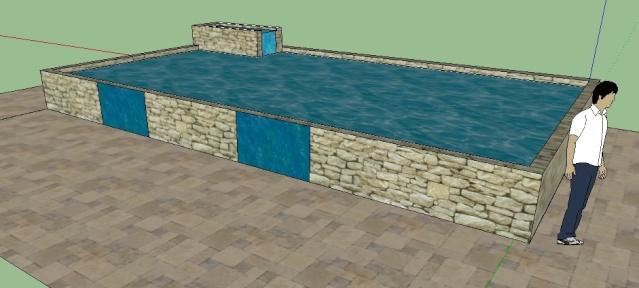 projet de bassin de 57 000 litres. Black Bedroom Furniture Sets. Home Design Ideas