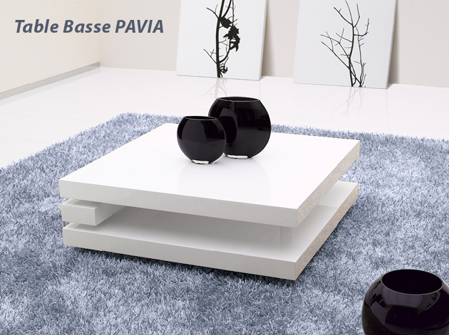 table basse blanche laque fly meuble de salon contemporain. Black Bedroom Furniture Sets. Home Design Ideas