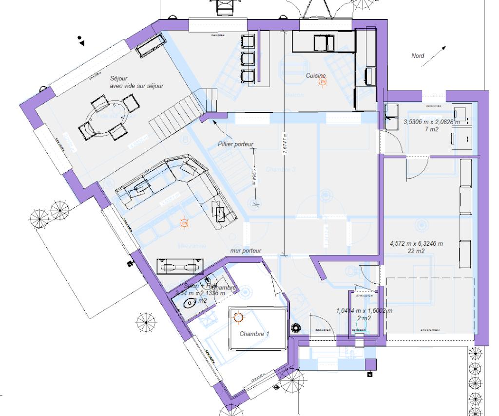 Nouveau plan maison bbc pour avis 30 messages for Maison en u plan