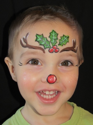 Reindeer Face Painting Ideas Images amp Pictures Becuo