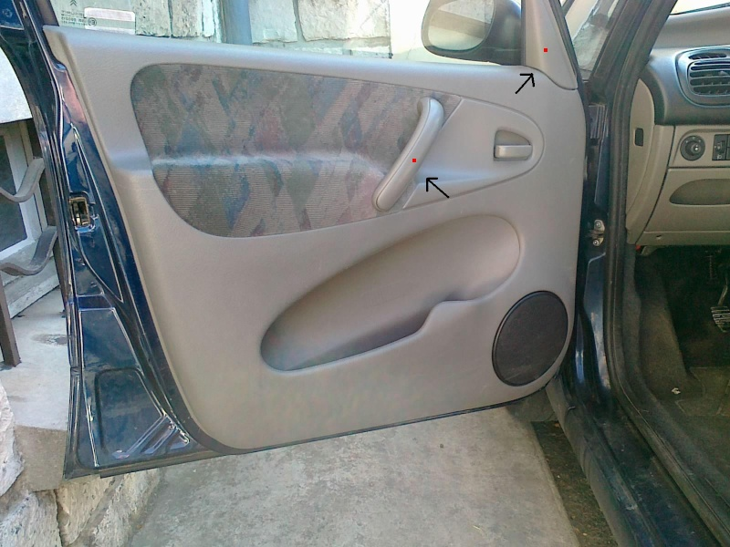 Comment demonter un panneau de porte de citroen xsara picasso for Interieur xantia
