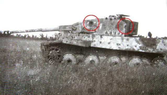 Tigre d truit for L interieur du char de vimoutier
