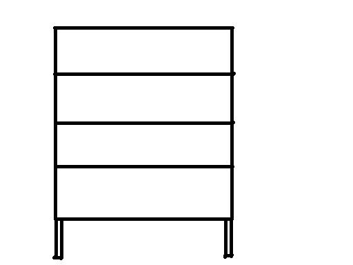dessin armoire ouverte table de lit. Black Bedroom Furniture Sets. Home Design Ideas