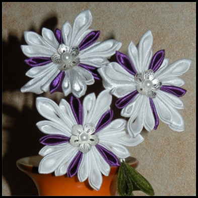 tuto fleur kanzashi
