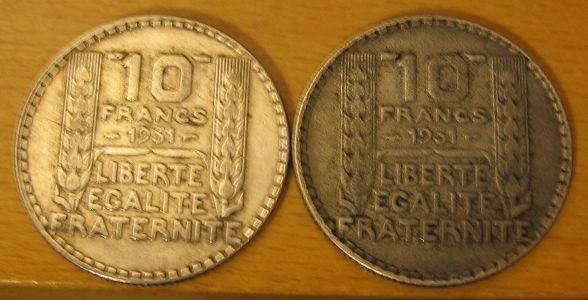 piece 10 francs turin 1931. Black Bedroom Furniture Sets. Home Design Ideas