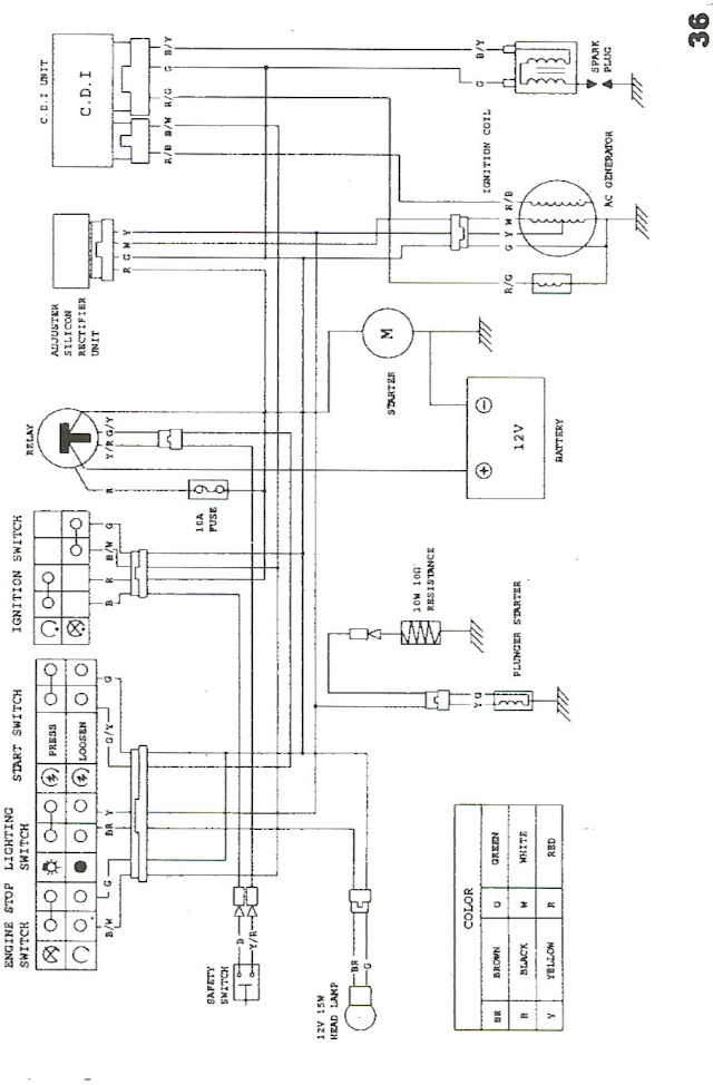 baja dune 150 wiring diagram   28 wiring diagram images