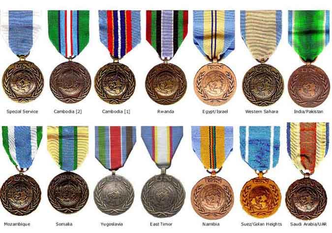 Peacekeeper medals