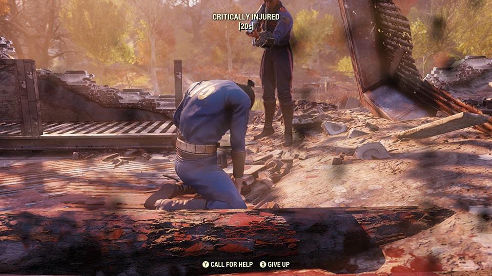 Fallout 76 PlayerDown