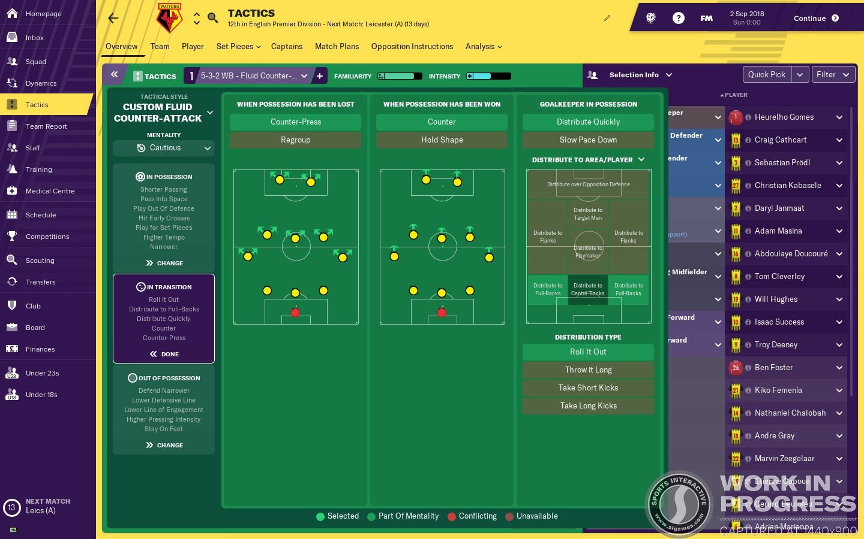 Football Manager 2019 Tattiche