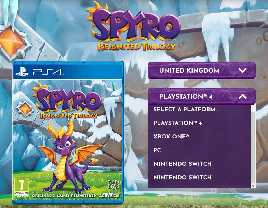 Spyro Reignited Trilogy Leak Piattaforme